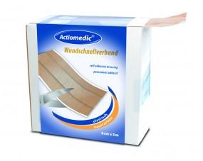 Actiomedic® ELASTIC Wundschnellverband hautfarben, 6 cm x 5 m