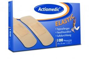Actiomedic® ELASTIC Pflaster Strips, 19 x 72, 100er Pack