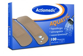 Actiomedic® AQUATIC Pflaster Strips, 19 x 72, 100er Pack