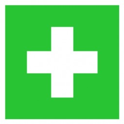 Erste Hilfe Symbol, Aufkleber 10 x 10 cm