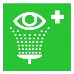Augenspülung Symbol, Aufkleber 148 x 148 mm