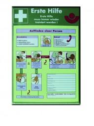 Notfalltafel Erste Hilfe , 370 x 520 mm, Kunststoff