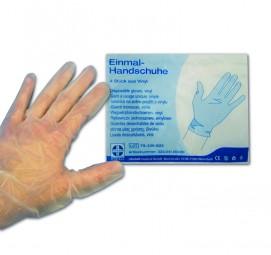 Einmalhandschuhe, Vinyl, Packung à 4 Stück, Gr. L, gepudert, DIN EN 455-1 / -2