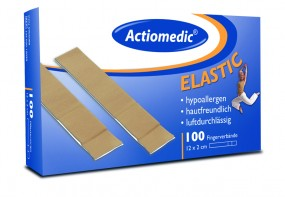 Actiomedic® ELASTIC Fingerverband, 12 x 2 cm hautfarben