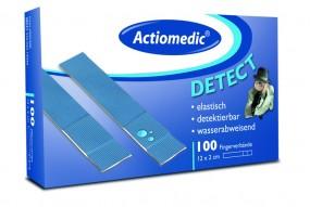Actiomedic® DETECT Fingerverbände, wasserabw. 12 x 2 cm, Pack á 100 Stück