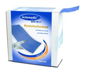 Actiomedic® DETECTWundschnellverband, elastisch, 8 cm x 5 m