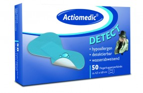 Actiomedic® DETECT Fingerkuppenverband, wasserabw., Pack á 50 Stück