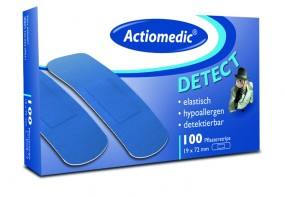 Actiomedic® DETECT elasitsche Pflaster Strips, 19 x 72 mm, 100er Pack