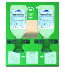 Actiomedic Augenspülstation DOUBLE 1 mit 2 x 500 ml NaCl 0,9%
