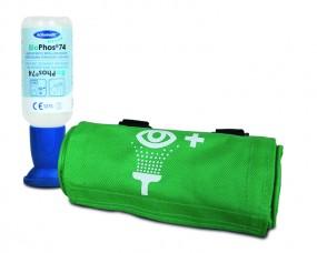 Actiomedic BioPhos74 Augenspülflasche, 250 ml mit Spülkopf in Gürteltasche