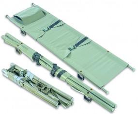 Krankentrage K, DIN 13 024-2, 2 x klappbar mit 4 Gleitfüßen u. Clickverschlüssen
