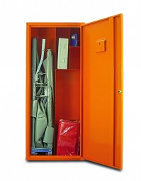 Sanitätswandschrank K orange + Füllsortiment